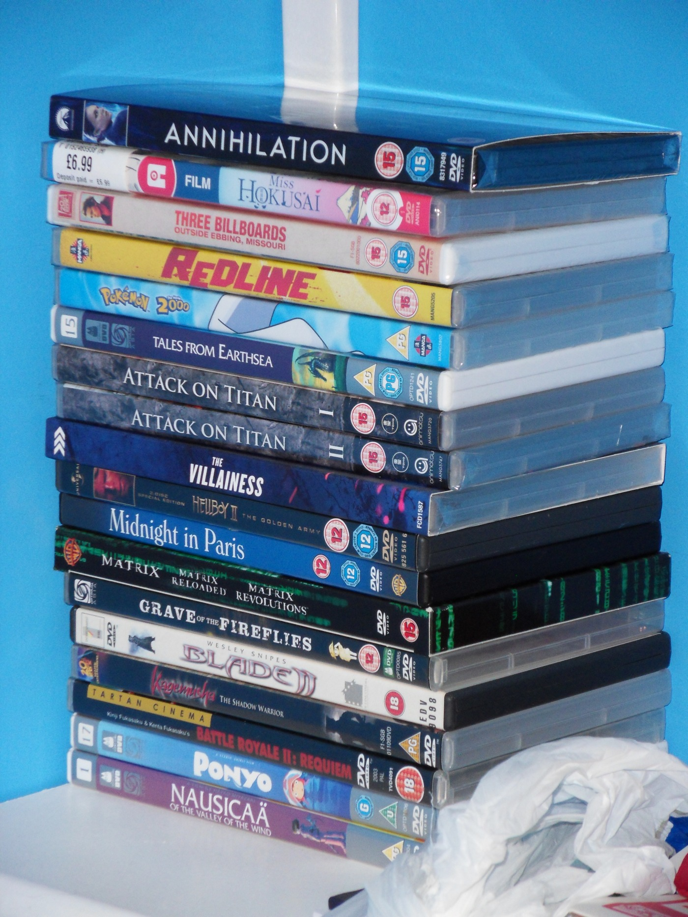 Unwatched DVD's